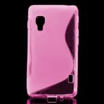 Gelové S-line  pouzdro pro LG Optimus L5 II E460- růžové - 1/5