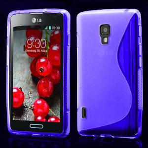 Gelové S-line pouzdro pro LG Optimus L7 II P710- fialové - 1