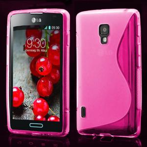 Gelové S-line pouzdro pro LG Optimus L7 II P710- růžové - 1