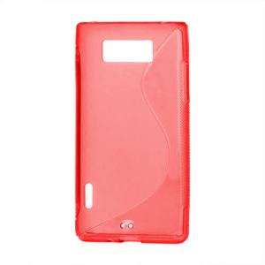 Gelové S-line pouzdro pro LG Optimus L7 P700- červené