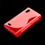 Gelové S-line pouzdro pro LG Optimus L9 P760- červené - 1/2