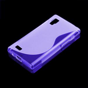 Gelové S-line pouzdro pro LG Optimus L9 P760- fialové - 1