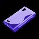 Gelové S-line pouzdro pro LG Optimus L9 P760- fialové - 1/2