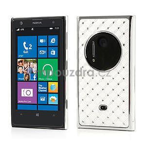 Drahokamové pouzdro pro Nokia Lumia 1020- bílé - 1