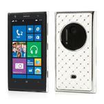 Drahokamové pouzdro pro Nokia Lumia 1020- bílé - 1/6