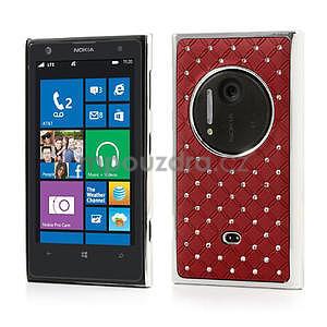 Drahokamové pouzdro pro Nokia Lumia 1020- červené - 1