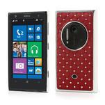Drahokamové pouzdro pro Nokia Lumia 1020- červené - 1/6