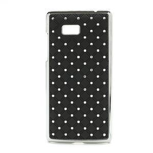 Drahokamové pouzdro pro HTC Desire 600- černé - 1