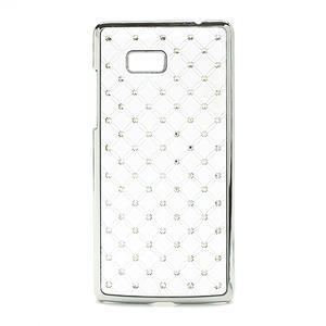 Drahokamové pouzdro pro HTC Desire 600- bílé - 1