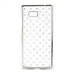 Drahokamové pouzdro pro HTC Desire 600- bílé - 1/4