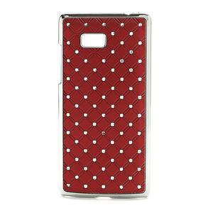 Drahokamové pouzdro pro HTC Desire 600- červené - 1
