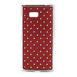 Drahokamové pouzdro pro HTC Desire 600- červené - 1/5