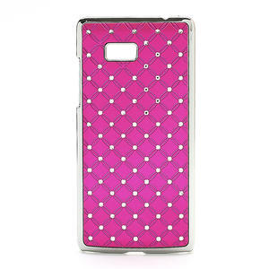 Drahokamové pouzdro pro HTC Desire 600- růžové - 1