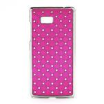 Drahokamové pouzdro pro HTC Desire 600- růžové - 1/5