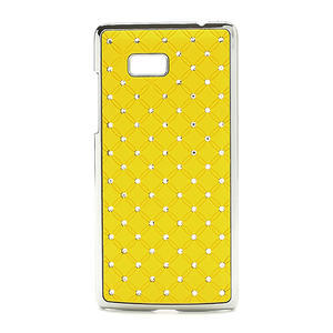 Drahokamové pouzdro pro HTC Desire 600 -žluté - 1