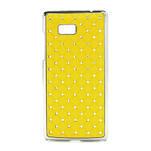 Drahokamové pouzdro pro HTC Desire 600 -žluté - 1/5