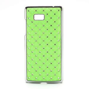 Drahokamové pouzdro pro HTC Desire 600- zelené - 1