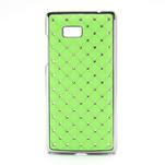 Drahokamové pouzdro pro HTC Desire 600- zelené - 1/5