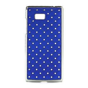 Drahokamové pouzdro pro HTC Desire 600- modré - 1