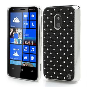 Drahokamové pouzdro na Nokia Lumia 620- černé - 1