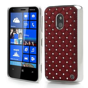 Drahokamové pouzdro na Nokia Lumia 620- červené - 1