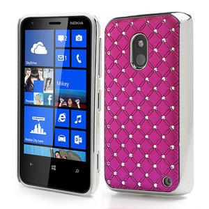 Drahokamové pouzdro na Nokia Lumia 620- růžové - 1