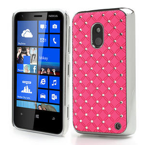 Drahokamové pouzdro na Nokia Lumia 620- světlerůžové - 1