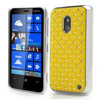 Drahokamové pouzdro na Nokia Lumia 620- žluté - 1/3