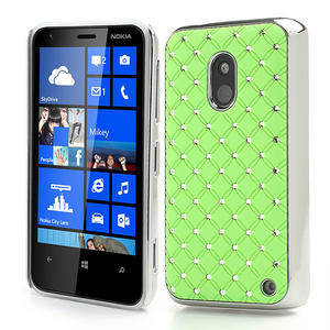 Drahokamové pouzdro na Nokia Lumia 620- zelené - 1