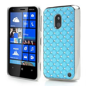 Drahokamové pouzdro na Nokia Lumia 620- světlemodré - 1