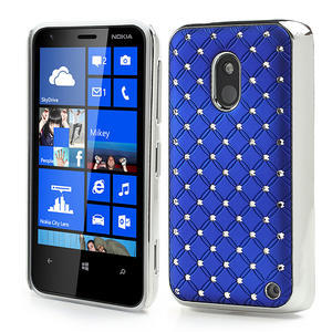 Drahokamové pouzdro na Nokia Lumia 620- modré - 1