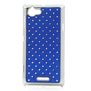 Drahokamové pouzdro na Sony Xperia L C2105- modré - 1