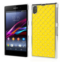 Drahokamové pouzdro na Sony Xperia Z1 C6903 L39- žluté - 1/4