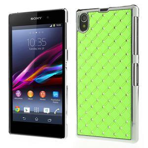 Drahokamové pouzdro na Sony Xperia Z1 C6903 L39- zelené - 1