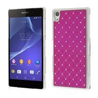 Drahokamové pouzdro na Sony Xperia Z2 D6503- růžové - 1/5