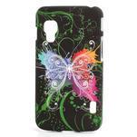 Plastové pouzdro pro LG Optimus L5 Dual E455- vlající motýl - 1/3