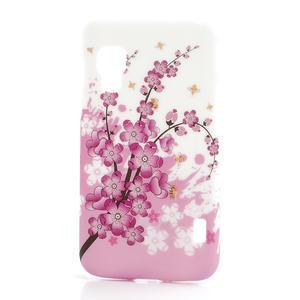 Plastové pouzdro pro LG Optimus L5 Dual E455- kvetoucí větvička - 1