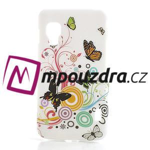 Plastové pouzdro pro LG Optimus L5 Dual E455- živé motýli - 1