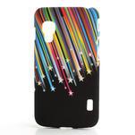 Plastové pouzdro pro LG Optimus L5 Dual E455- meteor barevný - 1/3
