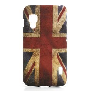 Plastové pouzdro pro LG Optimus L5 Dual E455-UK vlajka - 1