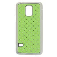 Drahokamové pouzdro na Samsung Galaxy S5 mini G-800- zelené - 1/4