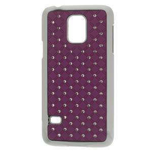 Drahokamové pouzdro na Samsung Galaxy S5 mini G-800- fialové - 1