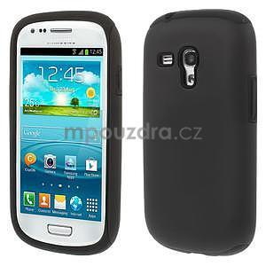 Černé hybridní pouzdro pro Samsung Galaxy S3 mini / i8190 - 1