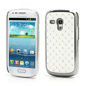 Drahokamové pouzdro pro Samsung Galaxy S3 mini i8190- bílé - 1