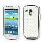 Drahokamové pouzdro pro Samsung Galaxy S3 mini i8190- bílé - 1/4