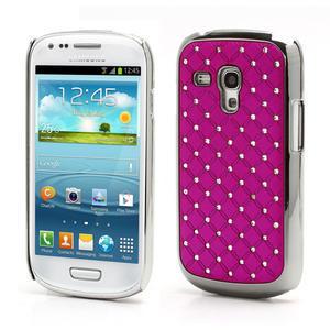 Drahokamové pouzdro pro Samsung Galaxy S3 mini i8190- růžové - 1
