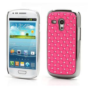 Drahokamové pouzdro pro Samsung Galaxy S3 mini i8190- světle-růžové - 1