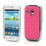 Drahokamové pouzdro pro Samsung Galaxy S3 mini i8190- světle-růžové - 1/4