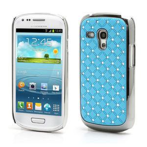 Drahokamové pouzdro pro Samsung Galaxy S3 mini i8190- světle-modré - 1