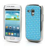 Drahokamové pouzdro pro Samsung Galaxy S3 mini i8190- světle-modré - 1/3